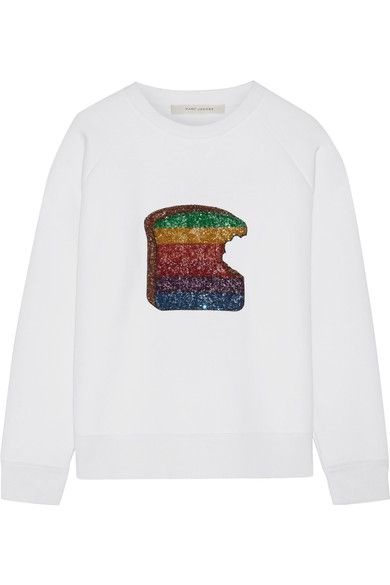 Marc Jacobs - Sequin-embellished Jersey Sweatshirt - White - x small