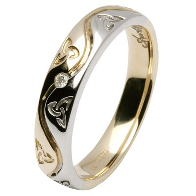 LOVE IT~, this is my favorite one.  love the platinum & gold together (goes with everything).  Love the celtic trinity knot.