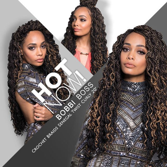 "BOBBI BOSS Synthetic Hair Crochet Braids Senegal Twist Curly 20"" 💓TRENDING NOW💓 Pre-Hand-Twisted Braids, Crochet-Ready Braid, Pre-Finished Ends, Full Texture, 28 Strands 💕💕💕 #blackgirlhair #hotnow #crochetbraids #braids #senegaltwist #curlyhair #beauty #trend #musthave"
