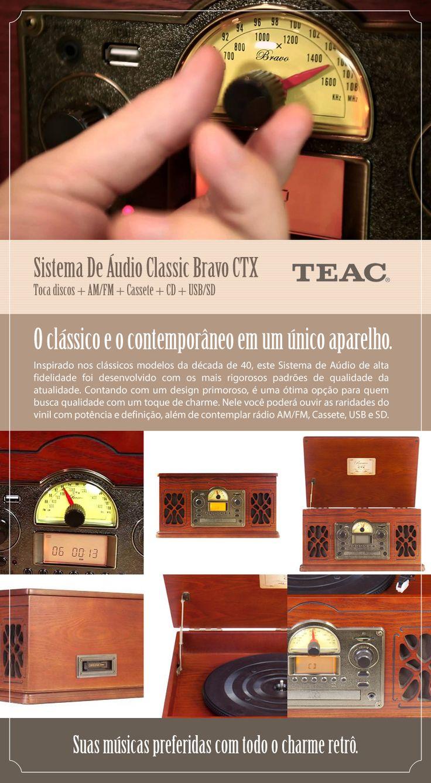 Este clássico sistema de áudio foi desenvolvido conforme os mais altos padrões de qualidade e alia a tecnologia com um design primoroso: http://www.colombo.com.br/produto/Som-e-Video/Sistema-De-Audio-Classic-Bravo-CTX-Toca-discos-AM-FM-Cassete-CD-USB-SD