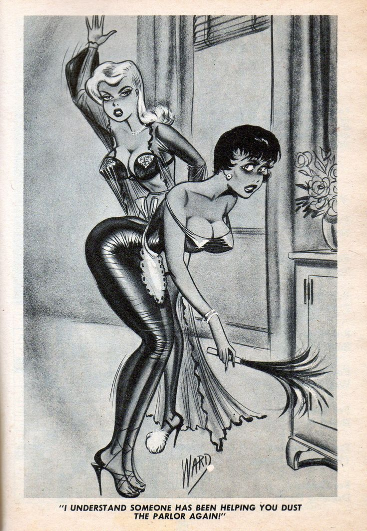 Maid spank cartoon