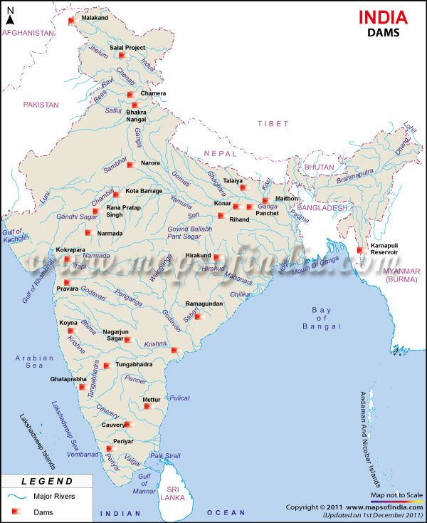 Map of dams in india maps pinterest india india map and geography thecheapjerseys Gallery
