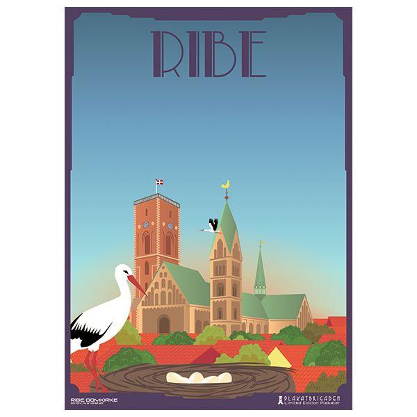 Limited edition plakat af Ribe Domkirke