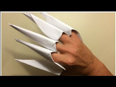 how to make paper claws step by step
