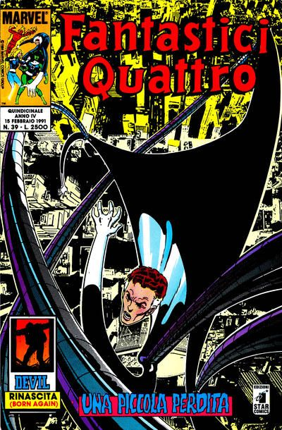 Cover for Fantastici Quattro (Edizioni Star Comics, 1988 series) #39