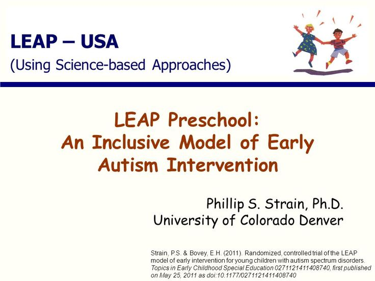 LEAP Preschool: An Inclusive Model of Early Autism Intervention -  ppt download