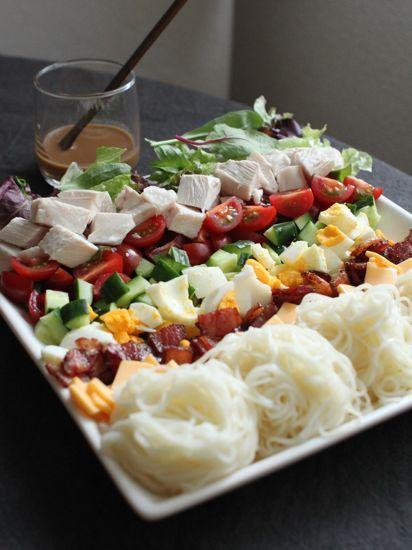 おしゃれなコブサラダのアイデア♪ワンプレート料理!コブサラダそうめん♡