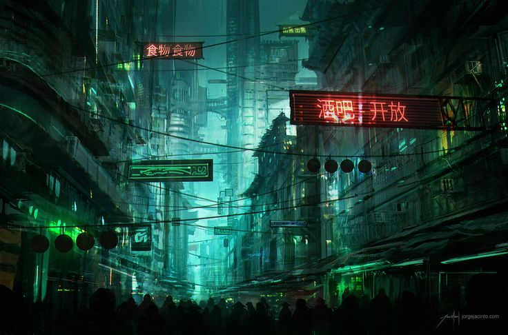 Neo Hong-Kong Street by JJcanvas on DeviantArt