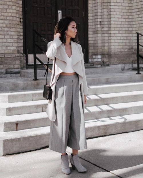 0174ab1e81c Брюки-кюлоты: 15 модных образов на весну | Стильное вдохновение | Женская  уличная мода, Женская мода и Модные образы