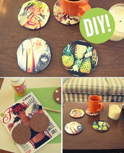 DIY Coasters - a fun project to make for your summer drinks