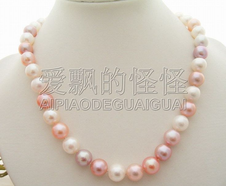 """Cheap necklace a, Buy Quality pearl necklace directly from China necklace necklace Suppliers: 17.5"""" 11mm AA Multi Color Pearl Necklace"""