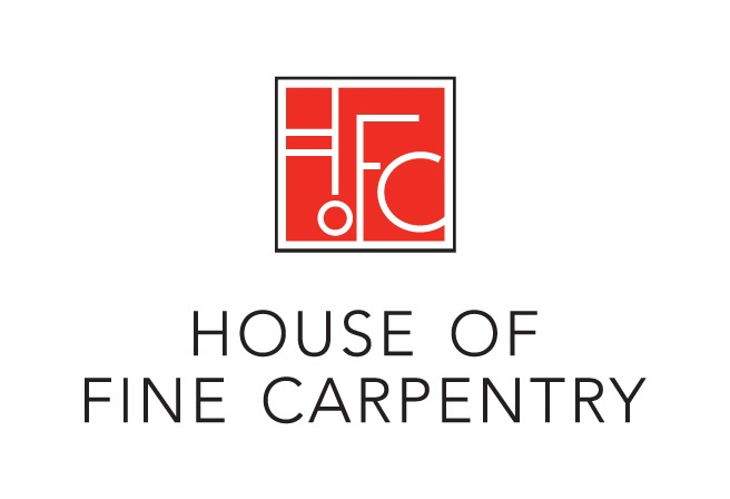 This logo design was developed for House of Fine Carpentry, a high end designer, manufacturer and installer of quality home finishes. The modern lines and type are meant to reflect the smooth lines and finishes found in their work. http://www.cyansolutions.com/work/services/corporate-identity #ottawa #marketingottawa #marketing #design #logo #logodesign #web #print