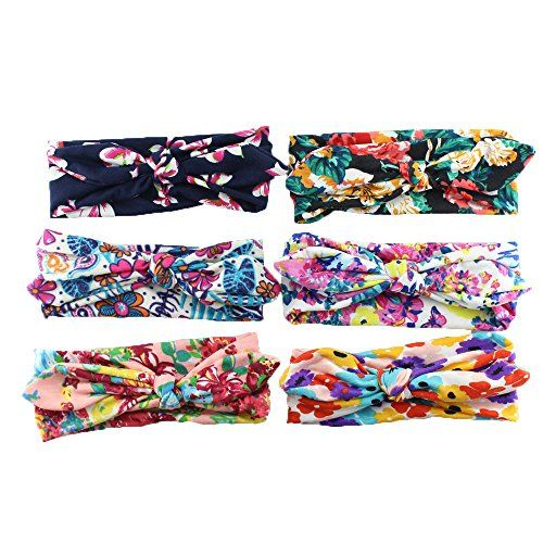 From 6.99:Set Of 6printed Child Girl Rabbit Ear Hair Turban Headband Elastic Baby Girl Hair Accessories | Shopods.com