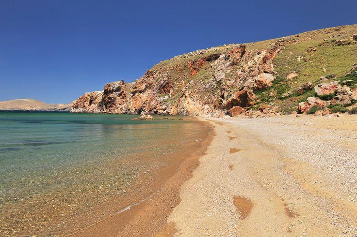 Παραλία Κόκκινα στη Λήμνο/Kokkina beach in Limnos island-Greece