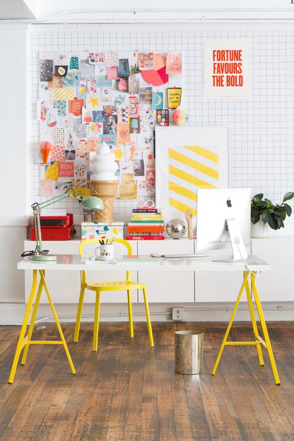 yellow desk inspiration