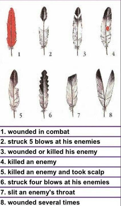 Native American warrior feathers
