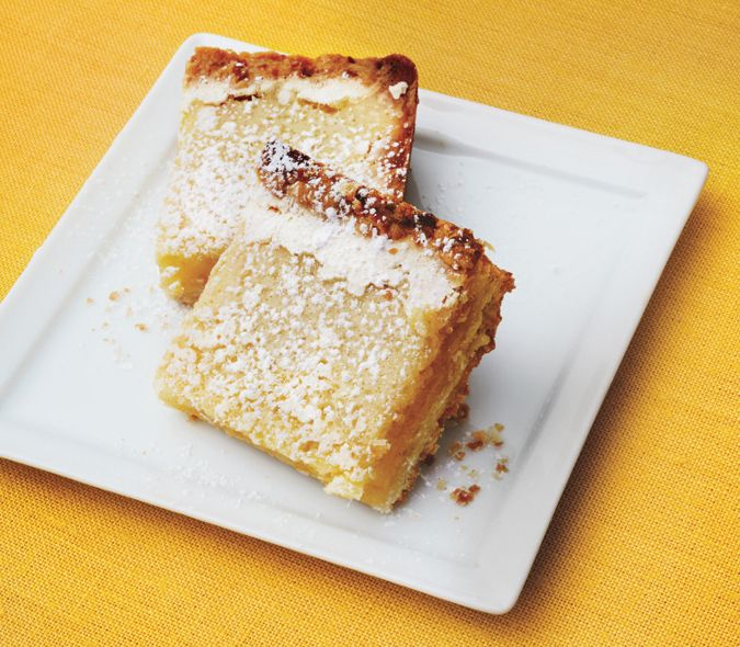 Lemongrass Bars with Coconut Shortbread Crust Recipe | Epicurious.com
