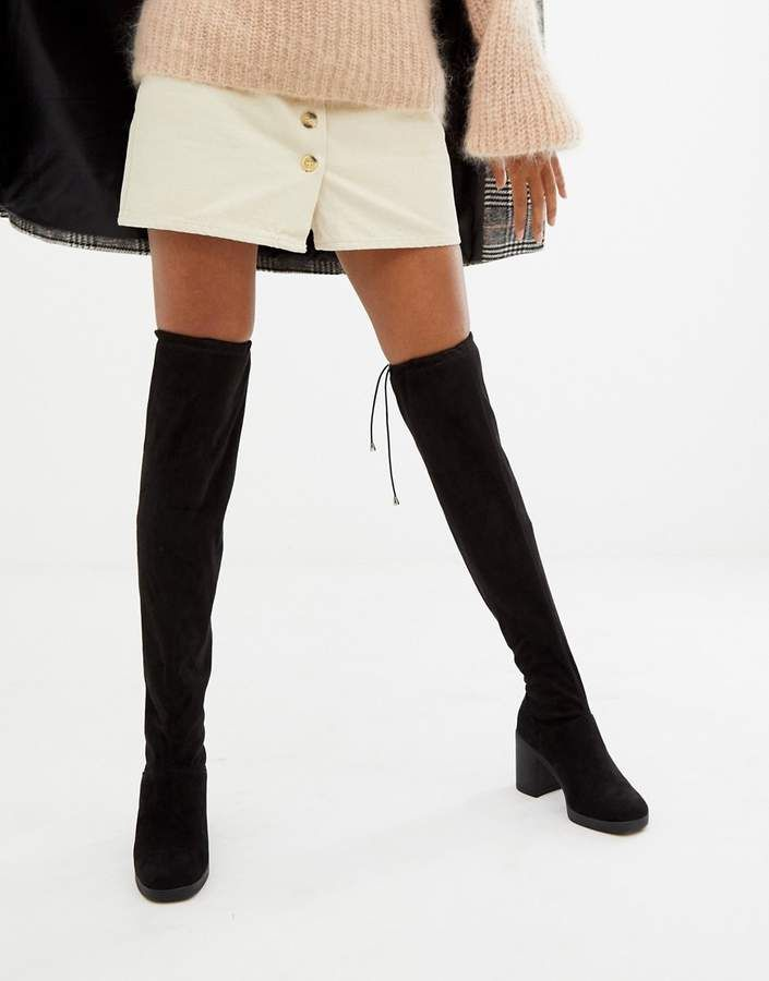 New Look <b>Over</b> The <b>Knee</b> Chunky <b>Heeled Boot</b> | <b>WOMEN'S</b> SHOES ...