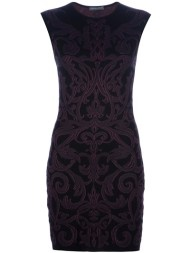 Alexander Mcqueen Fitted Paisley Print Dress in Purple
