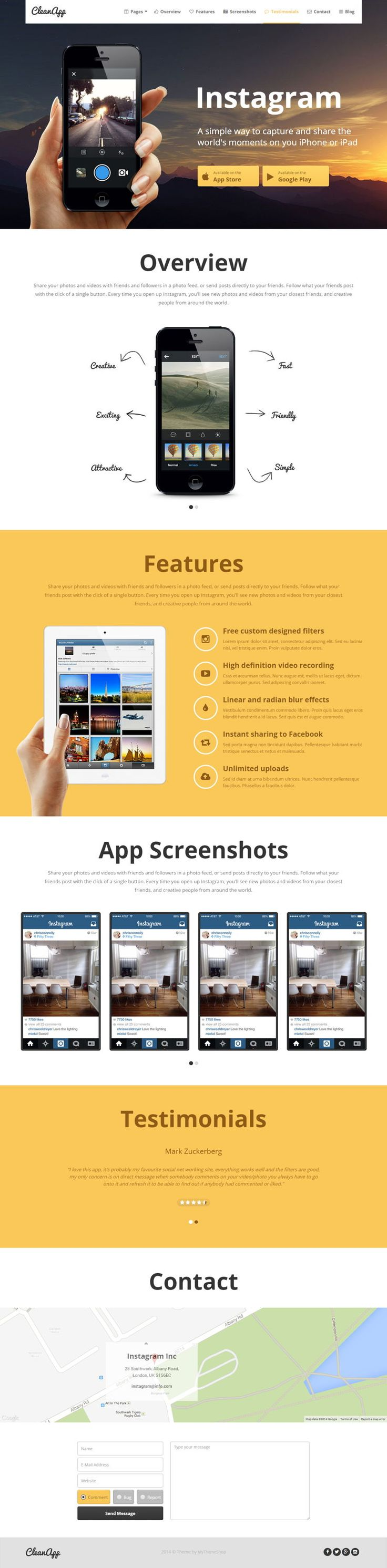 CleanApp #WordPress #Theme  #WPTheme #WebDesign  #Multimedia #MobilApp | #WPThemeHouse