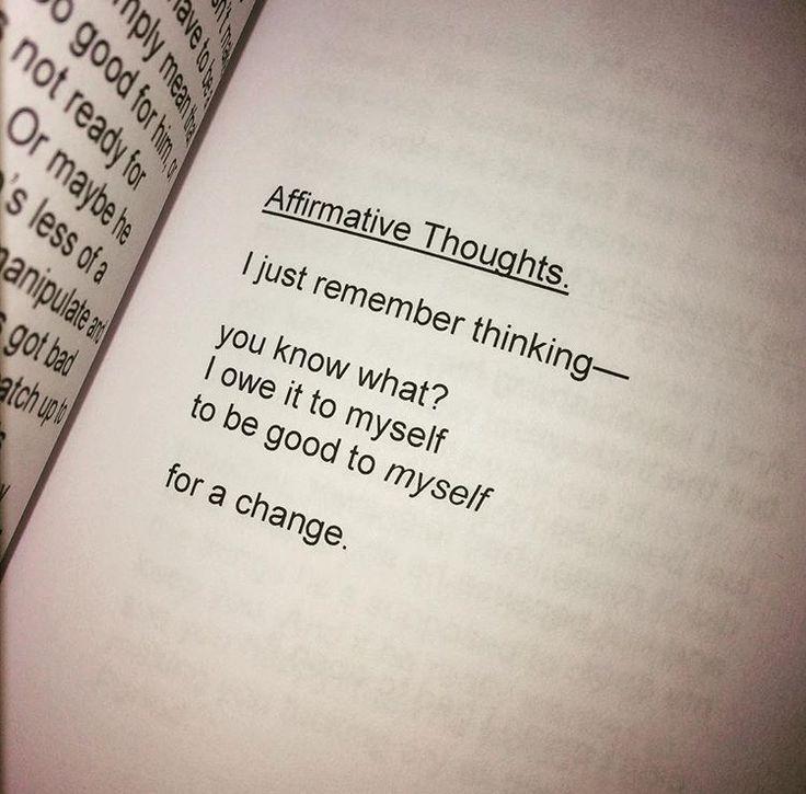 Be good to myself