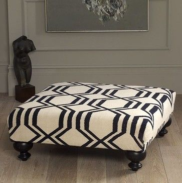 Bevin Tufted Ottoman - traditional - ottomans and cubes - Horchow