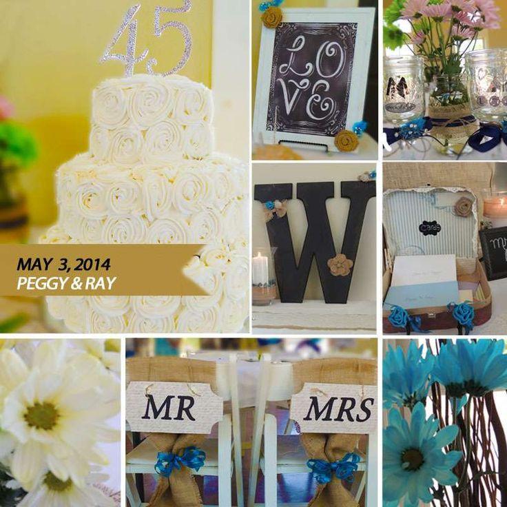 Rustic 45th Wedding Anniversary Birthday Party Ideas