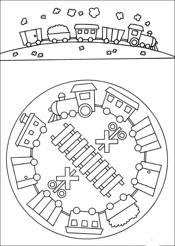 Desenhos para colorir para crianças. Desenhos para imprimir e colorir Mandalas 8