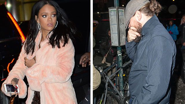 Leonardo DiCaprio and Rihanna's rumoured romance appears to be back on after the couple were spotted together on the most romantic day of the year.
