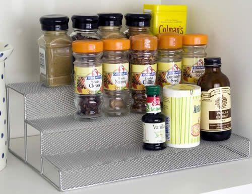 Spice Stepper Mesh Stacking Shelf Metal Storage Box Mesh Storage Basket On Wheels