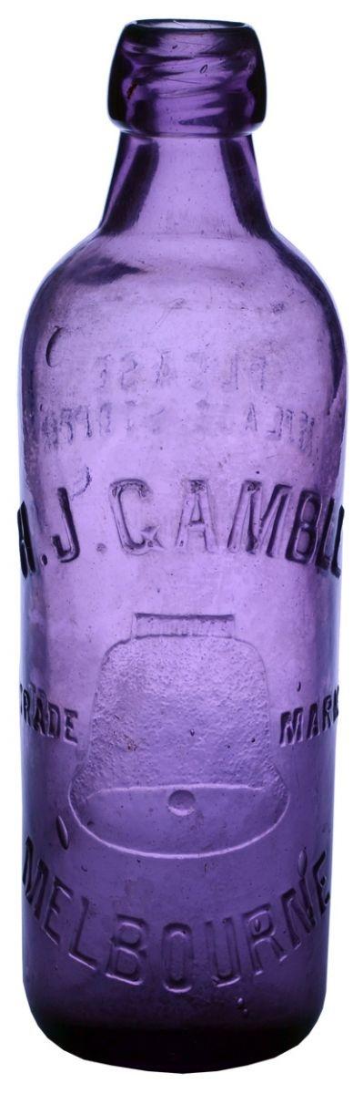 Gamble Melbourne (Bell trade mark). Internal Thread. Dark Purple. c1910s