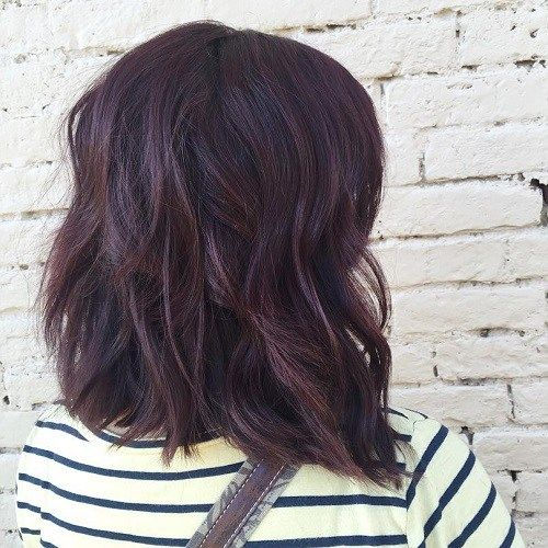 Mahogany Hair Color Inspiration  A dark rich blend of red and purple give a saturated mahogany hue which is based on the dark redd