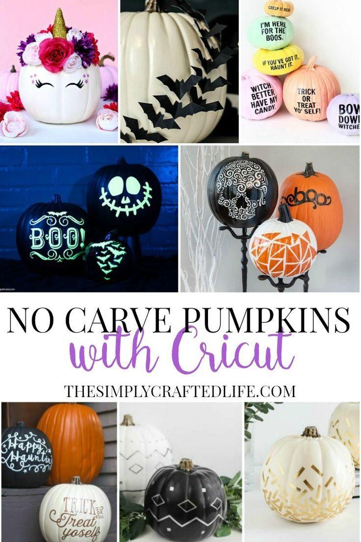 No Carve Cricut Pumpkin Decorating Ideas Pumpkin Carving Templates Pumpkin Decorating Pumpkin Template
