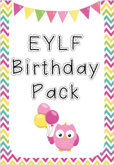 Designed by Teachers » EYLF Birthday Pack