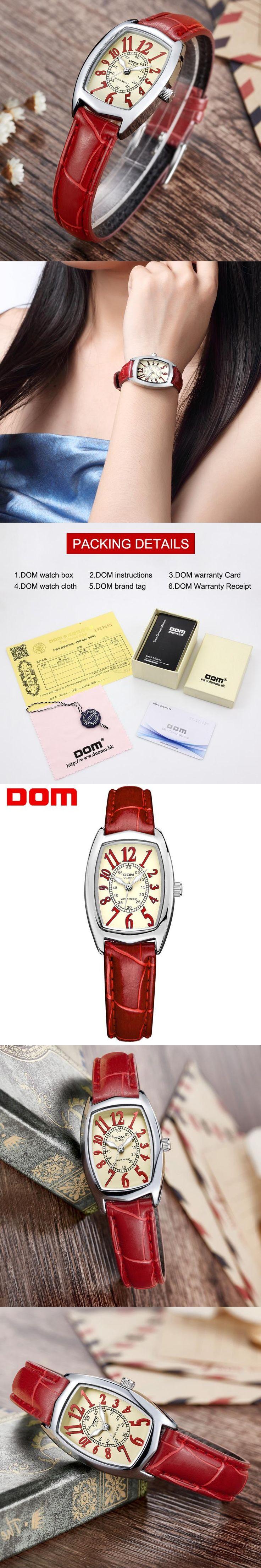 DOM women watches Brand waterproof style Fashion dress ladies Watches Leather women Quartz Wrist Watch relojes mujer LP-1208L-4M