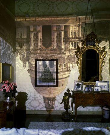 Abelardo Morell, Camera Obscura Image of Santa Maria della Salute in Palazzo Bedroom.
