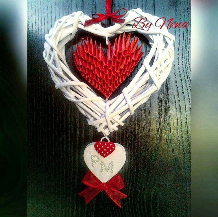 Idea San Valentino cuore 3D origami