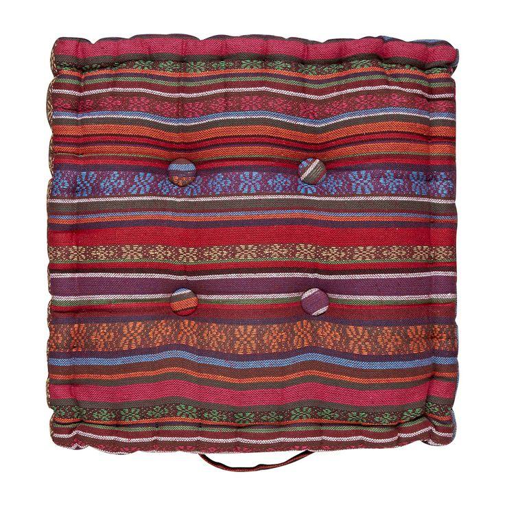 Matraskussen Mexican rood/paars 43x43 cm | Xenos