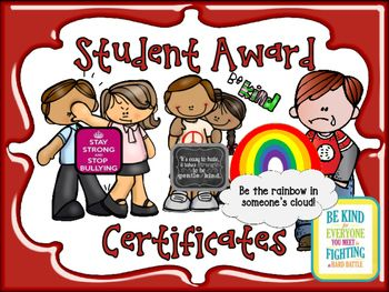UNIQUE Student Award Certificates for Any Time of Year...Great Incentives!