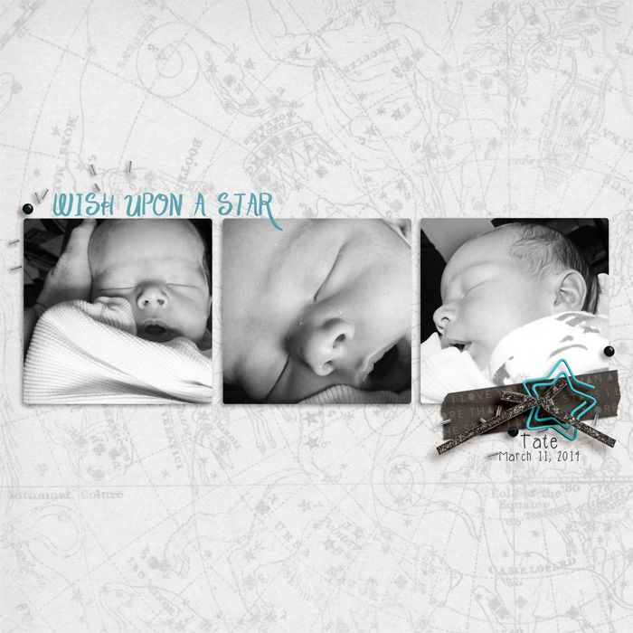 Layout by Hillary | More Than All The Stars | Two More Days | Digital Scrapbooking