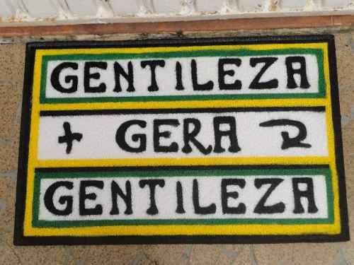 Tapete Capacho Gentileza Gera Gentileza *com Borda Rebaixada