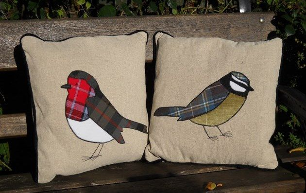 Tartan bird cushions, £46 each from Misbe.co.uk