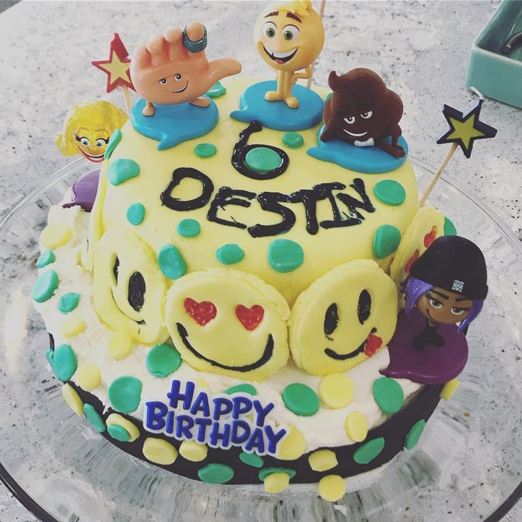 "27 Likes, 1 Comments - Blended Aesthetics (@blendedaesthetics) on Instagram: ""Emoji cake making with zero planning! #cakedecorating #cakemaker #emojis #emoji #cake #fondant…"" marshmallow fondant emoji cake emoji birthday party boys birthday"