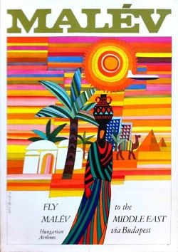 Fly Malév to the Middle East #travel #poster