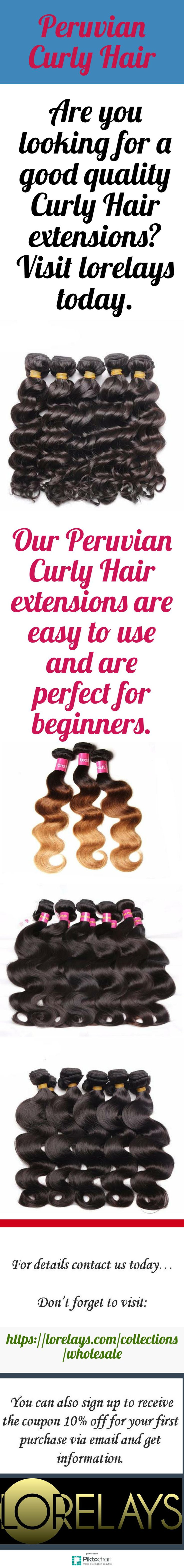 Visit Lorelays for Peruvian Curly Hair extensions. Our Peruvian Curly Hair extensions can offer the great solution to your hair woes. Visit website for details: https://lorelays.com/collections/wholesale