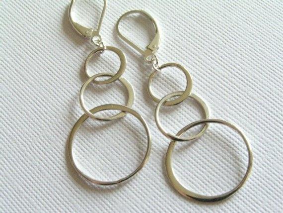Circle LInks Sterling Silver Earrings