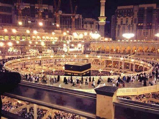 Beautiful Ka'aba at night..