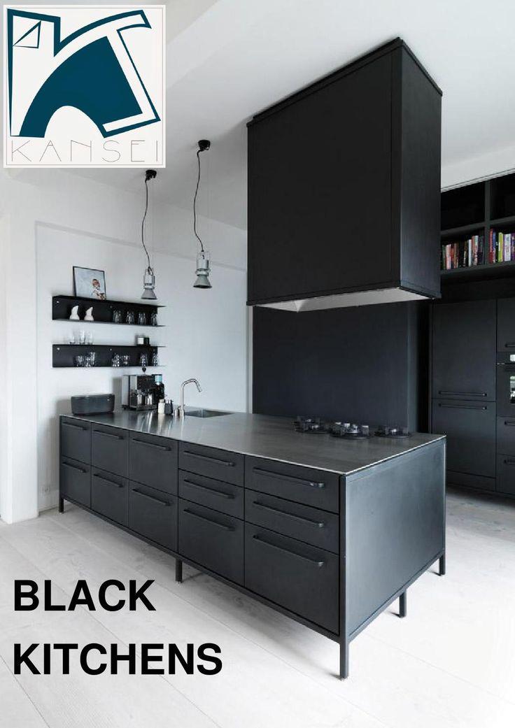 KANSEI Black Kitchens  Photos collected by Kansei via Pinterest