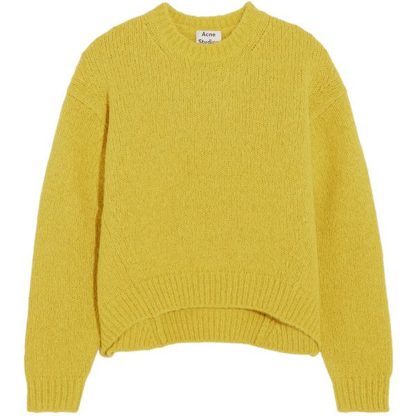Acne Studios Shira oversized alpaca-blend sweater found on Polyvore featuring tops, sweaters, oversized sweaters, long cocoon sweater, long oversized sweaters, long sweaters and slouchy tops