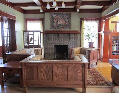 Laurelhurst 1912 Craftsman Living Room Photos
